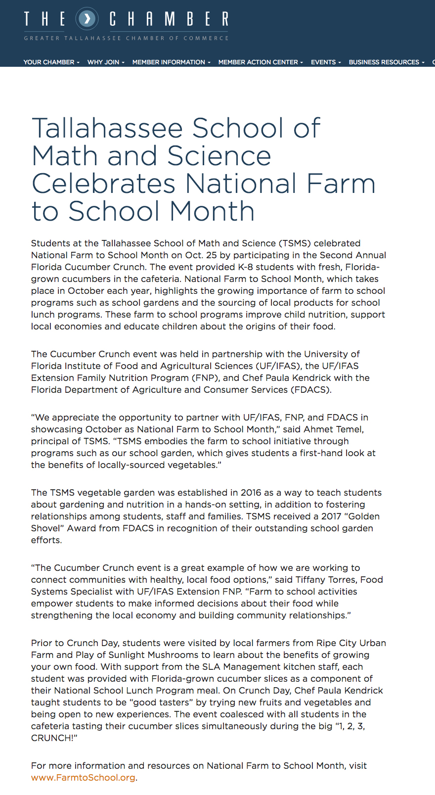 National Farm to School Month